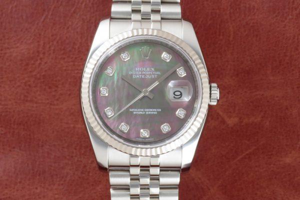 ROLEX DATEJUST Ref.116234NG Black shell 10P Diamond